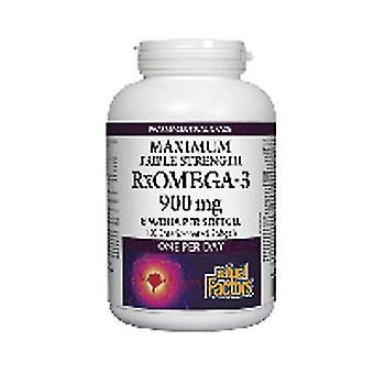 العوامل الطبيعية فائقة القوة RxOmega-3 العوامل، وفيتامين 150 softgels