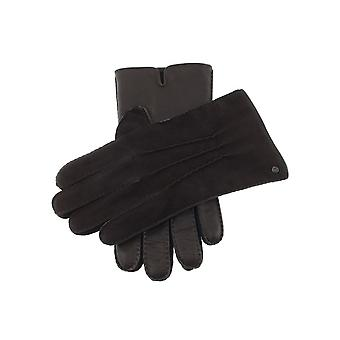 Men's Handsewn Cashmere Lined Leather & Nubuck Gloves