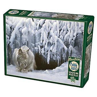 Cobble hill puzzle - dozing lynx - 1000 pc