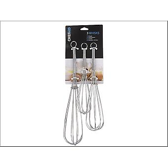Chef Aid Whisks 8-10in Set of 3 10E00631