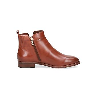 Caprice Maisie Leather Ankle Boots in Cognac