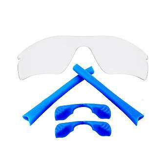 استبدال العدسات & كيت لطريق أوكلي رادار واضح والأزرق المضادة للخدش المضادة للوهج UV400 من قبل SeekOptics