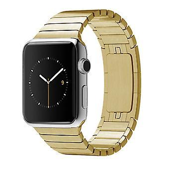 Strapsco fast rustfrit stål link armbånd til apple iwatch
