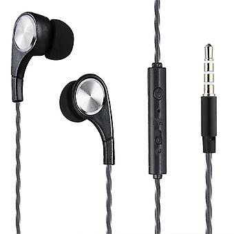 Soundz InEar Headphone with Microphone and VolumeControl NoiseIsolating Earphone - Black