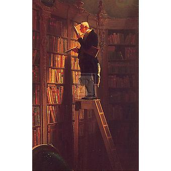 L'impression d'affiches Bookworm par Carl Spitzweg (10 x 12)