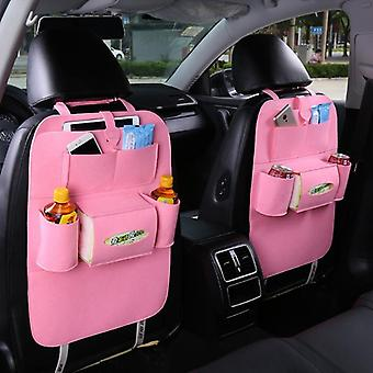 Bil Filt hængende taske Pu Læder Pad Seat Opbevaring Taske Travel Bakke bilsæde