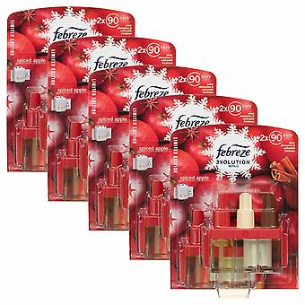 Febreze 3Volution Spiced Apple Plug In Twin Refill, Pack Of 5, 20ml