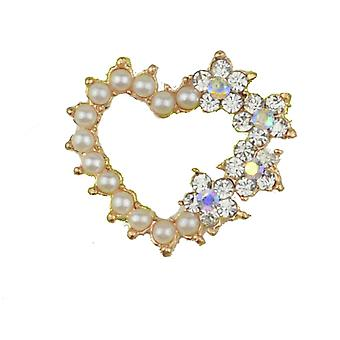 10 Perle e Diamante Heart incastonato nell'abbellimento in oro rosa - Limited Edition
