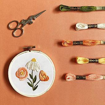 Flower Trio Diy Beginner Embroidery Kit