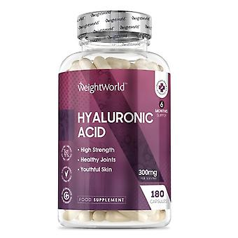 Hyaluronic Acid 300mg 180 Capsules - For Skin, Bones & Joints (6-Month Supply)