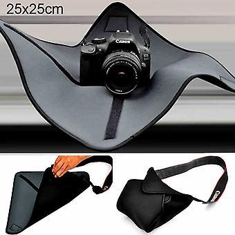 Canon / Nikon / Sony Kamera Lensi için Şok Geçirmez Neoprene Çanta Sihirli Wrap Battaniye, Boyut: 25 x 25cm