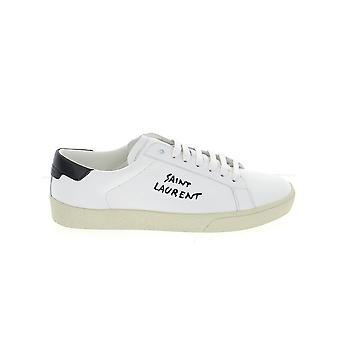 Saint Laurent 61068508g109061 Herren's Sneakers aus weißem Leder