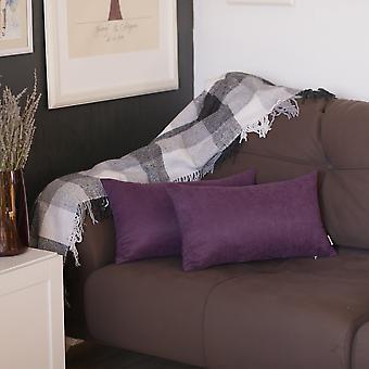 Honey Purple Decorative Lumbar Throw Pillow Cover
