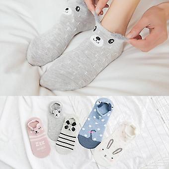 Jar / leto Bavlna Cartoon Zvieratá 3D Uši Stealth Ženy Papuče Ponožky