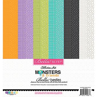 Bella BLVD Monsters & Friends 12x12 Inch Bella Besties Paper Kit
