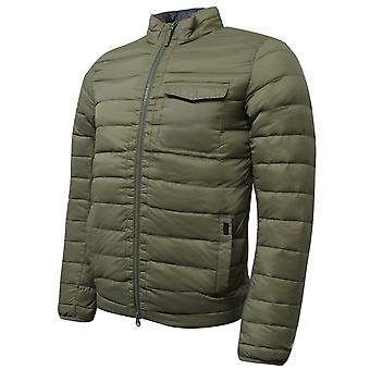 Hackett Mens Lightweight Down Jacket Zip Up Coat Khaki HM402380 665