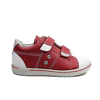 Ricosta Nippy 2623000-350 Red Leather Boys Rip Tape Casual Shoes