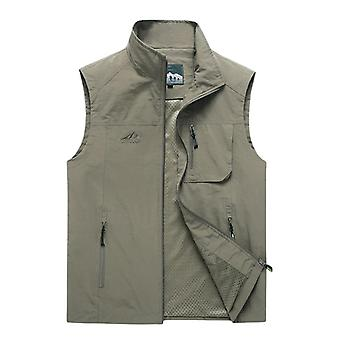 Autumn Mens Sleeveless Vest, Spring, Summer Casual Travels Outdoors Thin