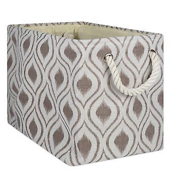 Dii Polyester Bin Ikat Stone Rectangle Large