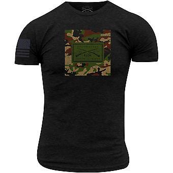 Grunt Style Woodland Logo T-paita - Musta