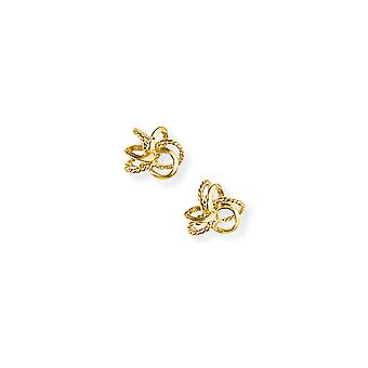 Jewelco Londen dames 9ct Yellow Gold twisted touw liefde knoop Stud Oorbellen 10mm