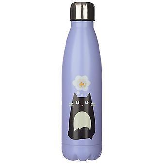 Feline fin kat rustfrit stål isoleret drikkevarer flaske
