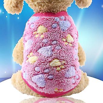 Koiran vaatteet pyjama fleece haalari talvi neljä jalkaa lämmin lemmikki asu tähti