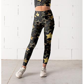 Gold Star Leggings, Capris And Shorts