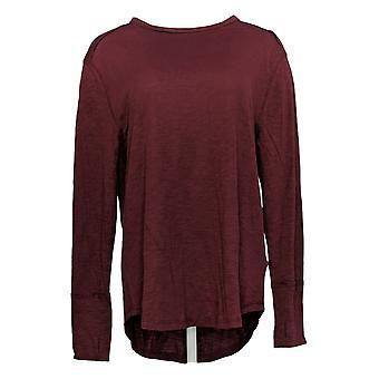 Alle würdigen Hunter McGrady Frauen's Top Langarm-t-Shirt rot A384588