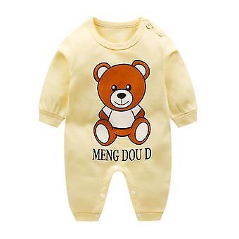Новорожденный ребенок 100% Хлопок Длинный рукав Ромперс Мягкие jumpsuits