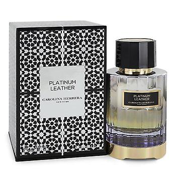 Platino Cuero Eau De Parfum Spray (Unisex) Por Carolina Herrera 3.4 oz Eau De Parfum Spray
