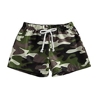 Baby badmode camouflage / palm boom print board shorts strand badpak