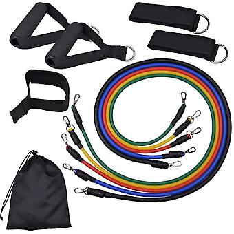 11pcs Resistance Bands Set For Legs And Butt With Handles,ankle Straps