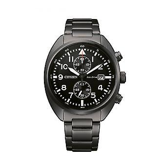 Męski zegarek CITIZEN MONTRES CA7047-86E - Bransoletka ze stali czarnej