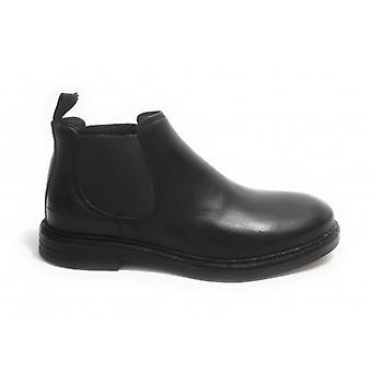Men's Shoe Ambitious 10853 Beatles Ankle Boot In Leather Color Black U21am17