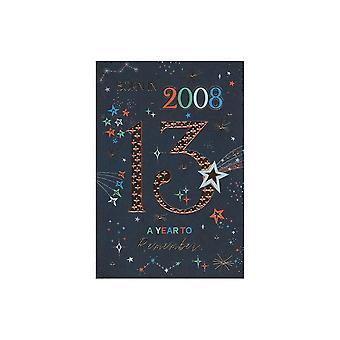 ICG Ltd 2021 Male 13 Year You Were Born Birthday Card