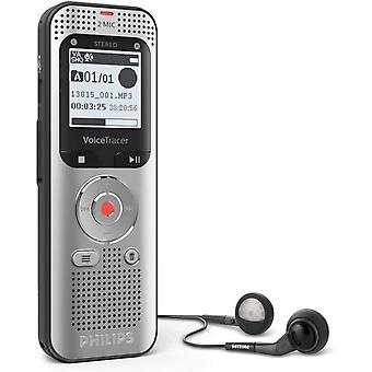 Philips VoiceTracer DVT2050 digitales Diktiergert Audiorecorder Aufnahmegert, Stereo MP3, 8GB