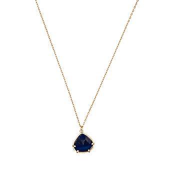 Golden mässing halsband monterad med en blå lapis '