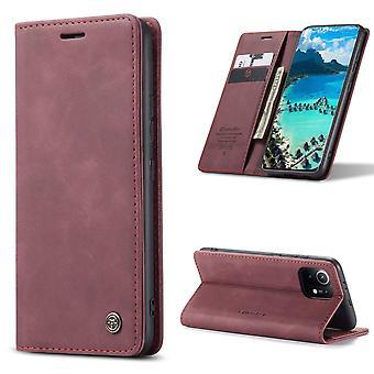CASEME Brieftasche Xiaomi Mi 11 - Burgund