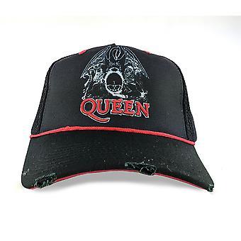 Amplified Queen Line Art Crest Trucker Cap