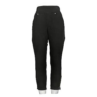 Belle by Kim Gravel Women's Petite Pants Flexibelle Jeans Black A354261
