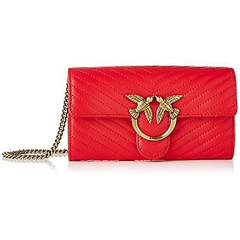 Pinko, LOVE WALLET V QUILT CL SHEEP N Vrouw, R43_ROSSO PURE, U