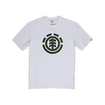 Element Leopard Icon Fill Short Sleeve T-Shirt in Optic White