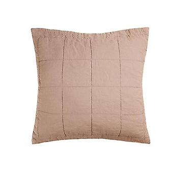 Bambury French Flax Linen Quilted Euro Sham