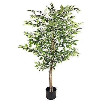 Kunstig ficus tre med variegation blader 2m