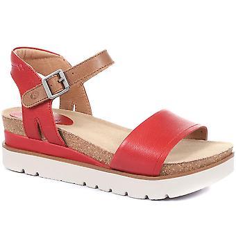 Josef Seibel Womens Leather Platform Sandals