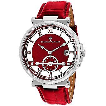 Christian Van Sant Men's Clepsydra Red Dial Watch - CV1706