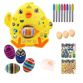 Easter egg decorating kit egg drawing spinners machine 8 paintings 3 eggs cai289