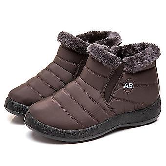 Winter Warm Plush Waterproof Snow Boots