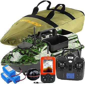 Barco de isca de camuflagem sem fio, posto de gancho, 3 funis, 2 motores, sensor gps lcd,